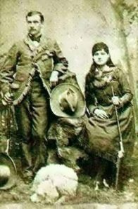 Real-life sharpshooters and husband and wife, Frank Butler and Annie Oakley.