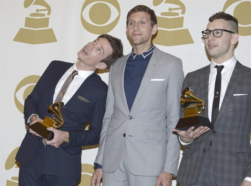 Members of the band, fun!, are from the left: Nate Ruess, Andrew Dost and Jack Antonoff.