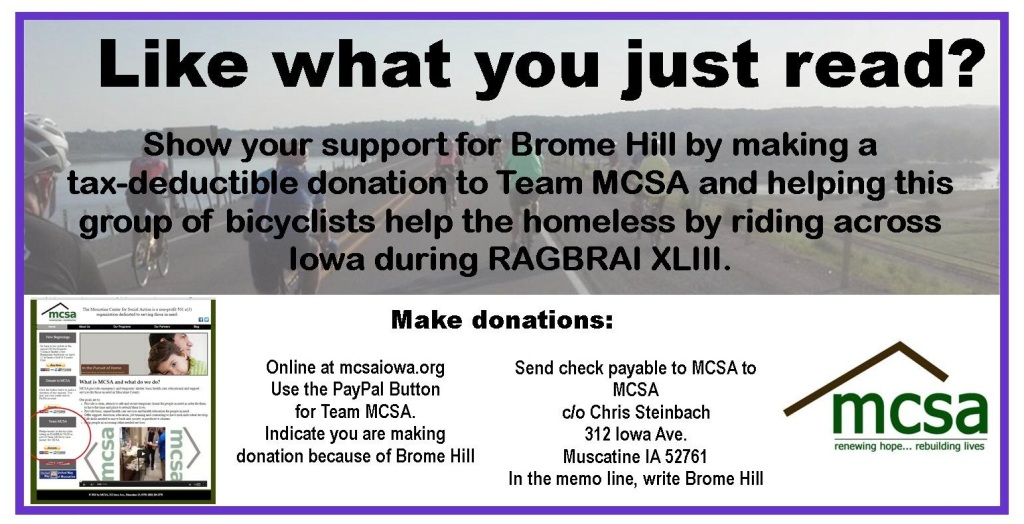 Donate to Team MCSA
