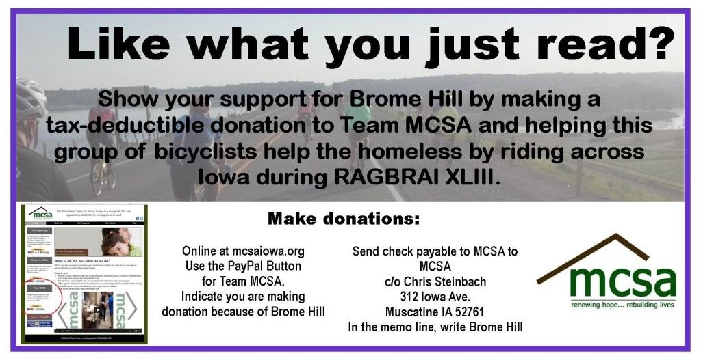 Donate to Team MCSA